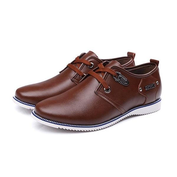 Large Size Men Leather Wear-resistant Casual Shoes