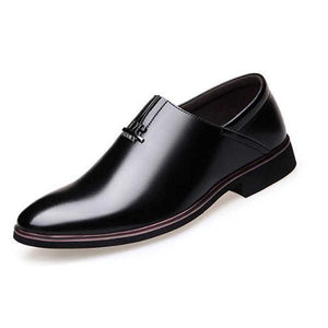 Men Genuine Leather Slip On Wear resistant Flat Casual Shoes