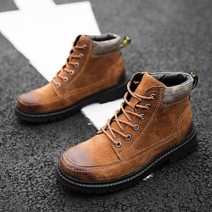 Large Size Men's Genuine Leather Boots