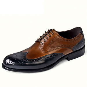 Men Brogue Carved Slip On Business Formal Casual Shoes