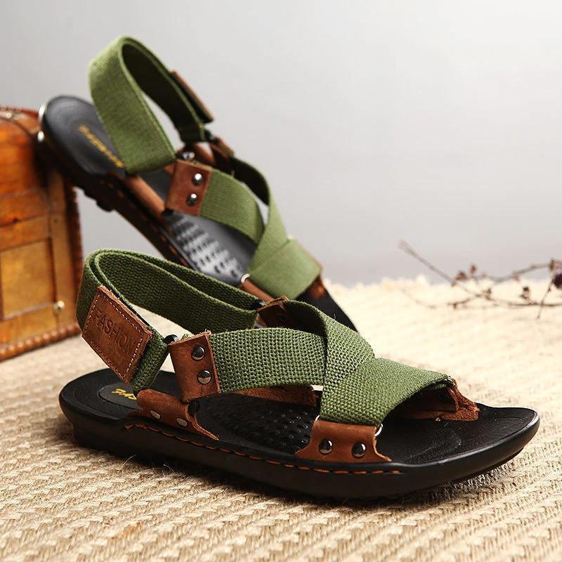 Men Opened Toe Hook Loop Outdoor Gladiator Sandals