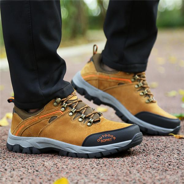 Men Anti-collision Non-slip Lace Up Outdoor Casual Sneakers