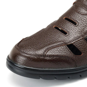 Men Comfy Genuine Leather Breathable Hollow Outs Oxfords Soft Shoes