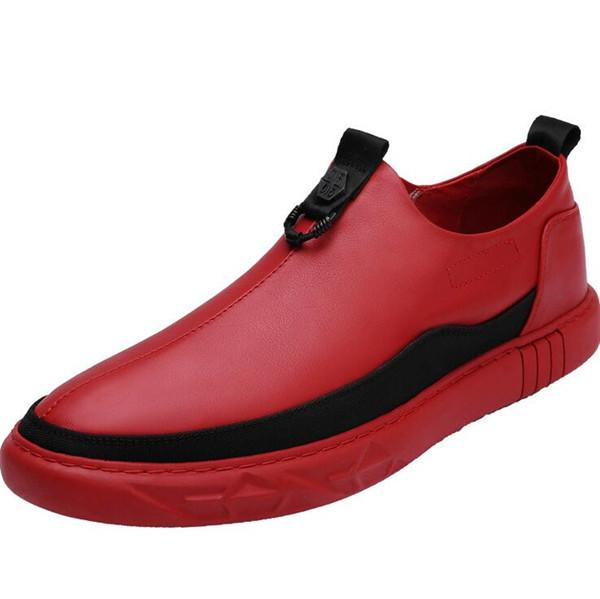 Men Microfiber Leather Slip On Sport Casual Sneakers