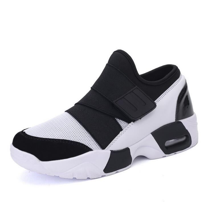 Men ElasticTextile Light Sport  Hook Loop Casual Sneakers