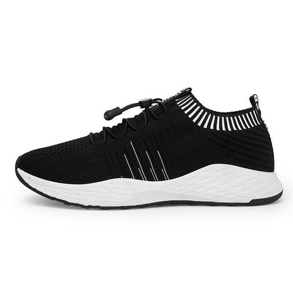 Men Knitted Fabric Breathable Sport Running Sneakers