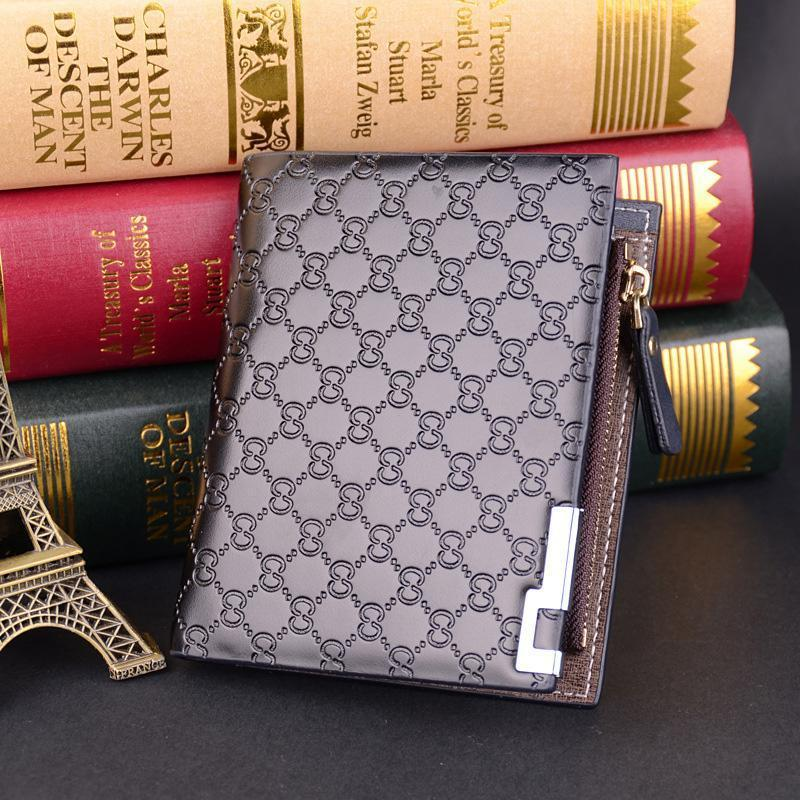 Men's Design Personality Casual Zipper  Durable Wallet