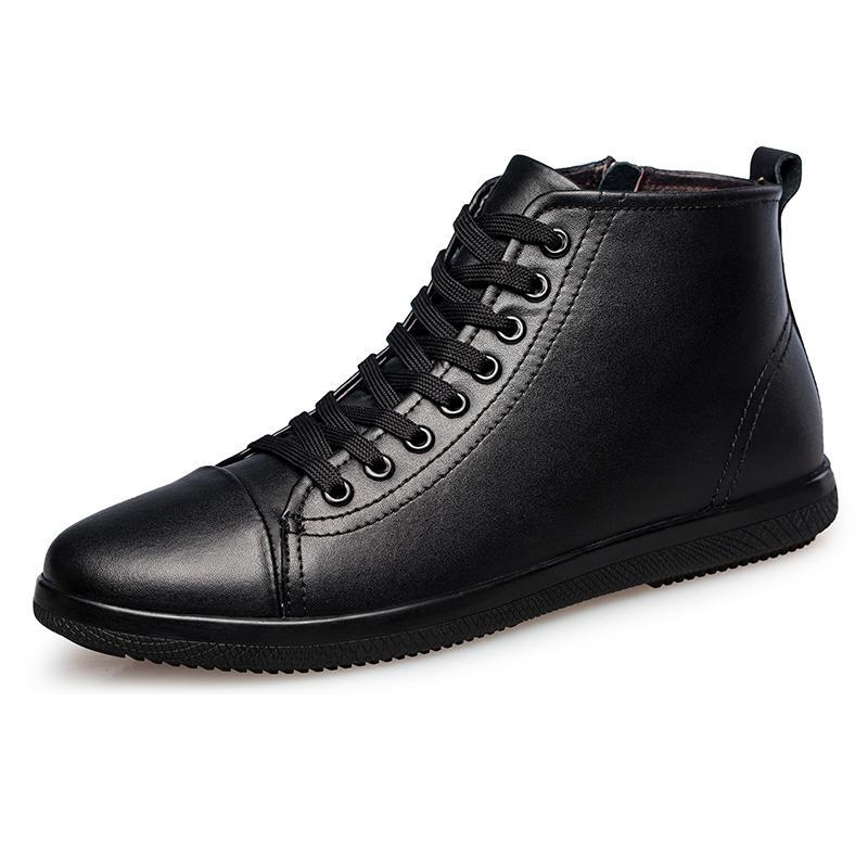 Men Genuine Leather Lightweight Cushioning Boots