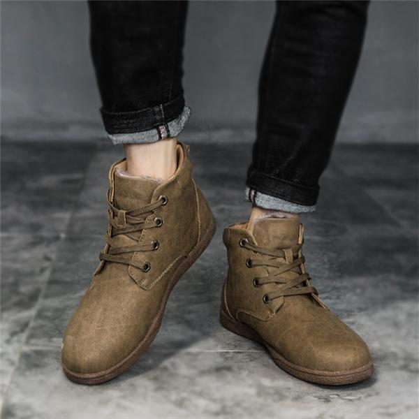 Men's Large Size Warm Plush Lining Boots