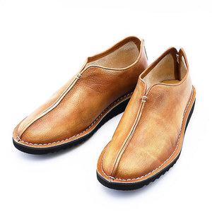 Men Retro Genuine Leather Casual Shoes