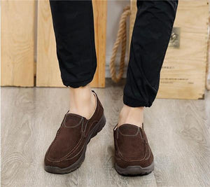 Men Large Size Soft  Suede Non-slip Casual Shoes