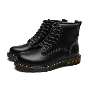 Men Retro Color Genuine Leather Waterproof Casual Boots