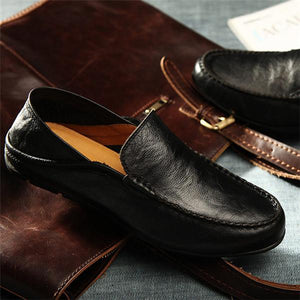 Large Size Slip On Casual Men Loafers Men Moccasins Shoes Genuine Leather Men's Flats Shoes