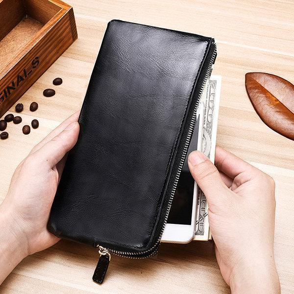 Men's Multi-Card Genuine Leather Long Wallet