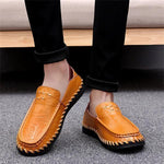 Men Genuine Leather Handmade Casual Shoes