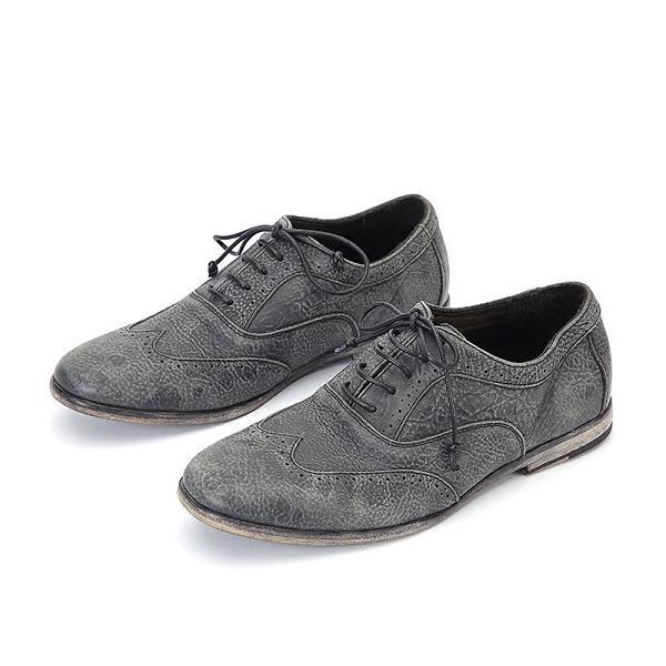 Men Goodyear Retro Casual Leather Brogue Shoes