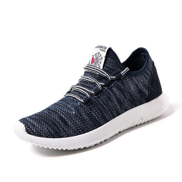 Large Size Men Casual Breathable Pure Color Sneaker