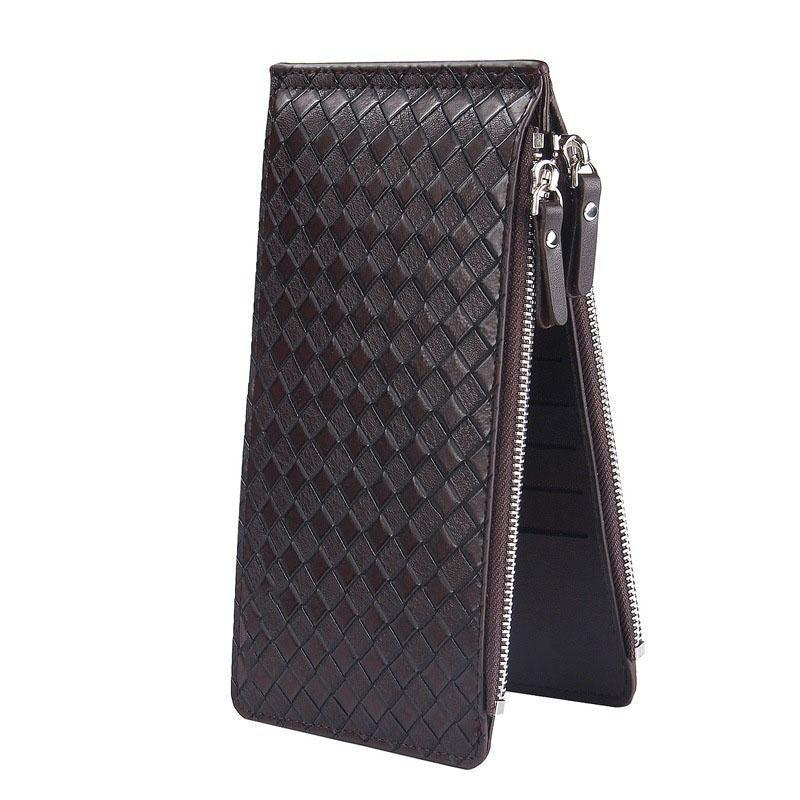 Men's Multi-Functional Double Zippers  Wallet