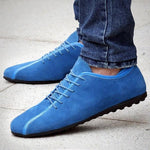 Men Suede Low Top Casual Shoes