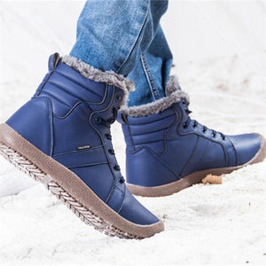 Men Large Size Water Resistant Warm Lined Snow Boots
