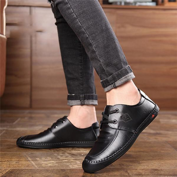 Men's Business Casual Breathable Non-Slip Leather Shoes