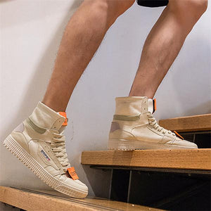Men's High Top Casual Trainers Lace Up Sneakers