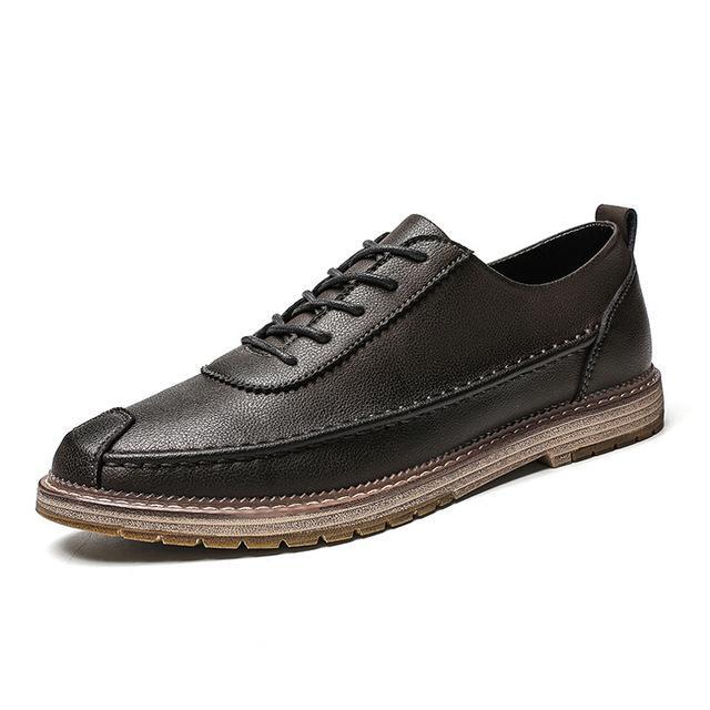 Men Large Size Fashion Casual Leather Shoes