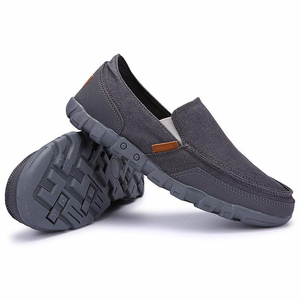 Large Size Men Washed Canvas Soft Lazy Shoes Slip On Casual Loafers