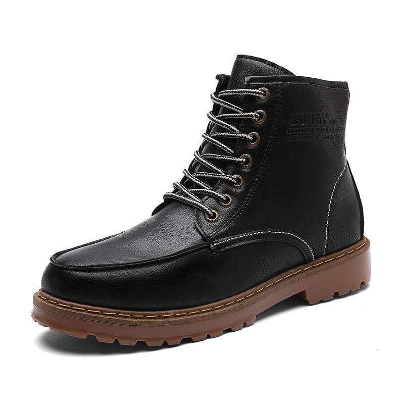 Men Handmade Retro Waterproof Leather Casual Boots