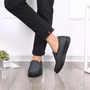 Men Casual Canvas Slip-On Driving Flat Shoes