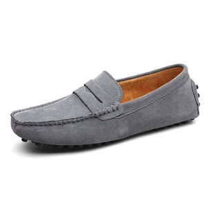 Men High Quality Genuine Leather Flats Shoes