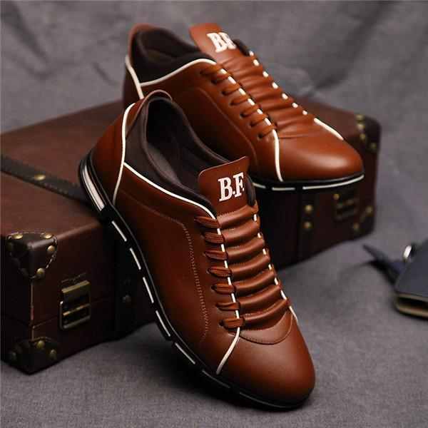 Large Size Casual Shoes Fashion Leather Shoes