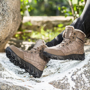 Men's Autumn and Winter Outdoor Plus Velvet Snow Boots