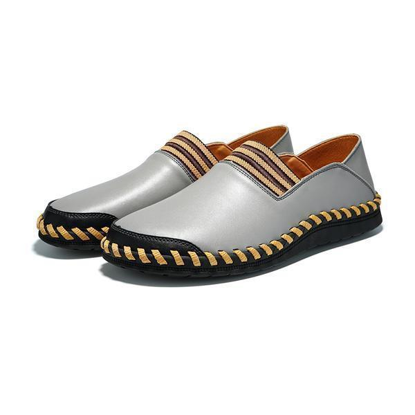 Men Retro Style Handmade Split Leather Casual Shoes