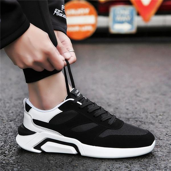 men's shoes trend cool sports and leisure net face old man shoes fashion wear non-slip shoes