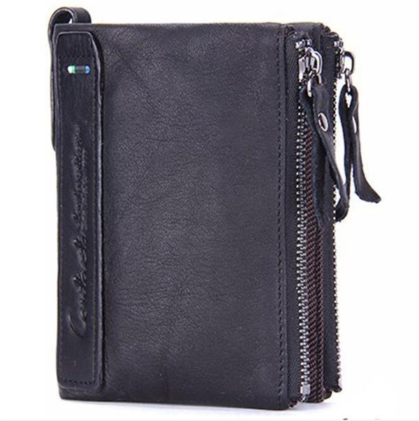 Genuine High Quality Cowhide Leather Men Wallet Short Coin Purse Small Vintage Wallets