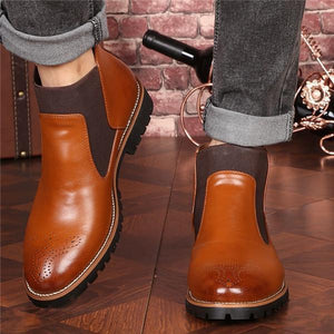 Men's British Style Soft Leather Casual Boots
