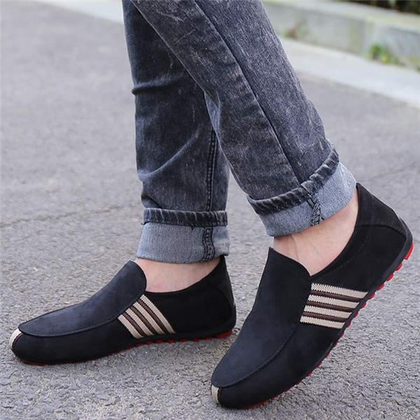 Men Casual Red Bottom Driving Slip On Flat Loafers