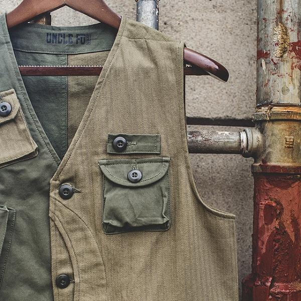 Multi-pocket Vest Jacket