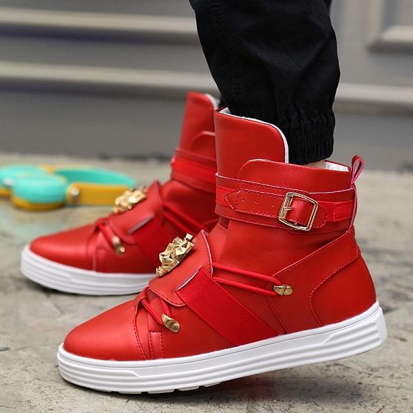 Fashion Men Soft Leather Sneakers