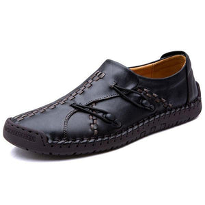 Men Comfortable Genuine Leather Soft Sole Hand Stitching Oxfords Shoes