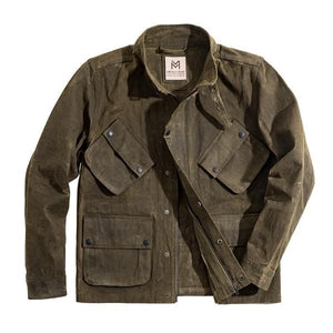 Men Vintage Army Green Jacket