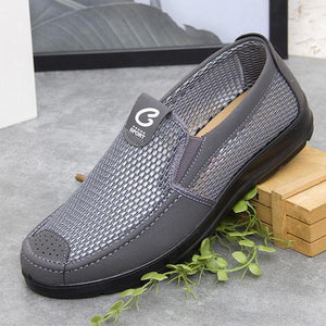 Men Comfortable Old Peking Style Soft Sole Mesh Oxfords Slip On Shoes