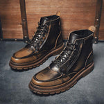 Men Vintage British Style Leather Boots