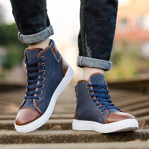 Large Size Men Canvas Stylish Casual Ankle Boots