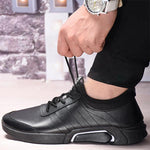 Men Lace Up Casual Trainers Comfortable Sport Casual Shoes