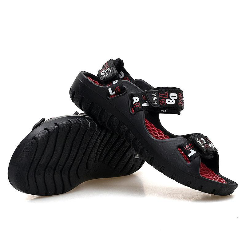 Men Webbing Comfortable Sole Hook Loop Casual Beach Sandals