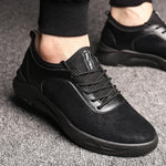 Men Genuine Leather Height Increased Casual Sneakers