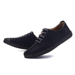US Size6.5-11 Men Hand Stitching Soft Sole Casual Lace Up Oxfords Shoes