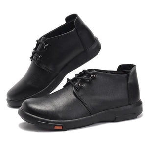 Men Genuine Leather Casual Comfortable High Top Oxfords Boots